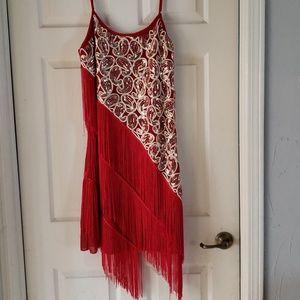 Red and Gold Rhythm / Latin Dress